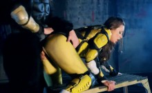 Power Rangers xxx parody with pornstar Abigail Mac