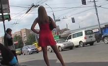 Amateur upskirt in public