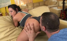 Rahyndee James isnt one to pass up a hot cock when she sees