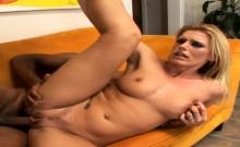 Cougar Darryl Hanah Rides Black Dude's Large Cock
