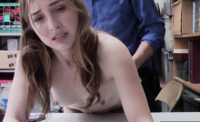 Nubile Nerdy Gal Thief Gets Huge Dick