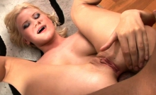 Kinky slut pussy and ass rammed by massive black cocks