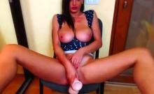 German big boobs babe toys on webcam