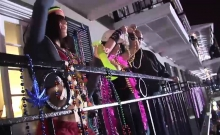 Amazing Mardi Gras babe show their junk