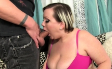 Sexy Plumper Gets Kissed And Suck A Stiff And Long Dick