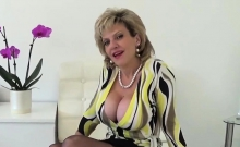 Unfaithful British Milf Lady Sonia Flashes Her Enormous Ball