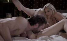 Charles Hard Cock Cums Over Elsas Stomach