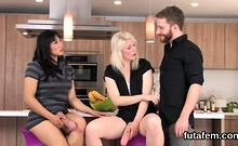 Girls drill bfs anal with enormous belt cocks and splash eja
