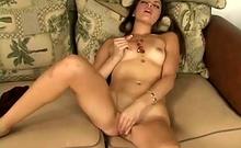 Horny Brunette Teen Enjoying Pussy Toying Masturbation