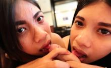 White Tourist Fucks Two Asian Thai Whores
