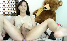 Titty Shemale Tranny Jerk And Cumshot