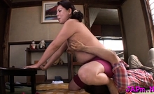 Japanese playgirl gets her sexy older vagina worked good