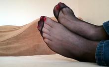 Uk Tickling Mikaela Witt Socks And Nylon Foot Tickle