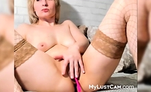Sweet Blonde Milf Loves To Play With Her Warm Wet Gash