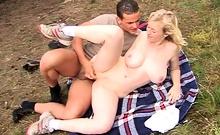 Petrushka gets smashed properly on a picnic