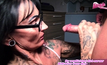 german big tits tattoo milf homemade blowjob n swallow pov