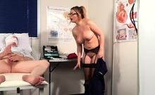 Busty nurse in uniform