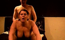 Nasty brunette pornstar with big boobs