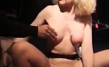 Hot mature slut enjoys hot gang bang