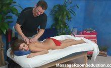 Alexa seduced and fucked by her massage therapist on hidden