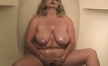 Fat Mature MILF Oiling Up